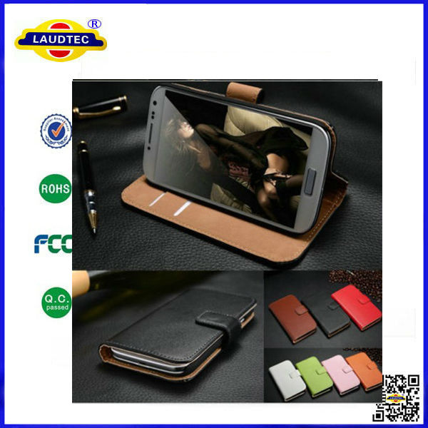 Genuine Leather Wallet Case for Huawei Ascend P7 Stand Flip Case Cover Made In China