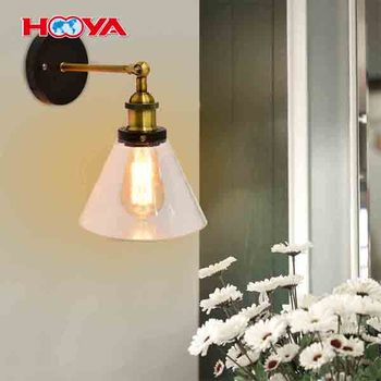 1 Head Indoor Outdoor Industrial Vintage Style Bar Loft Glass Wall Light with Bulb Wall Sconce