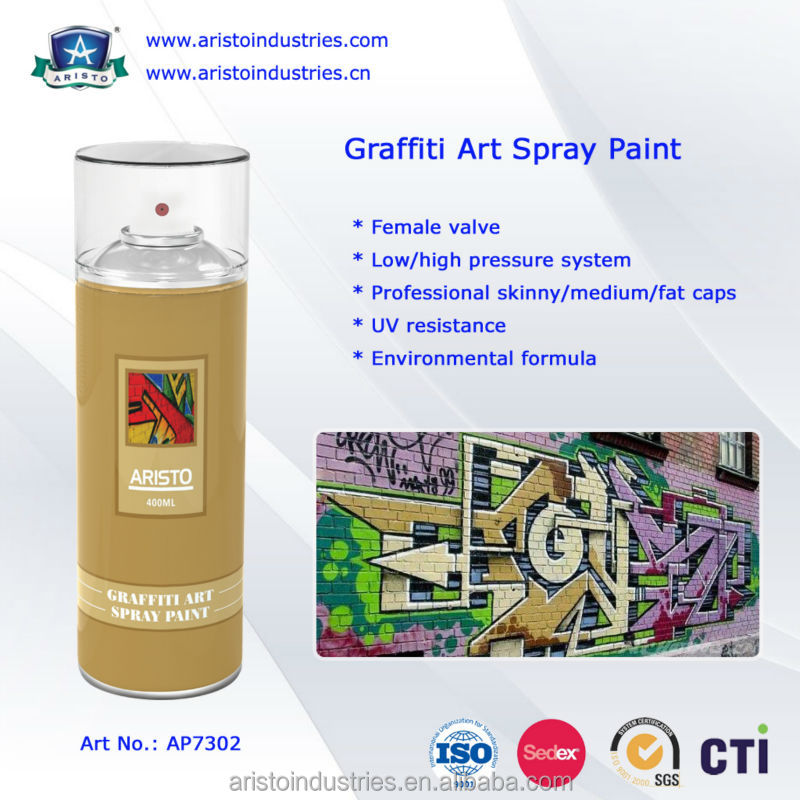 Water based graffiti spray paint