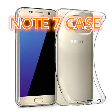 Ultra-thin Transparent Clear TPU Cell Phone Case for Samsung galaxy note 7 UTTNOTE7