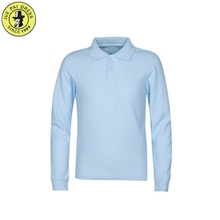 Long Sleeves Blue School Uniform Model