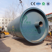 Newest 10tons CE certified batch processing waste plastic / rubber recycling line equipment