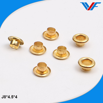 Metal brass bag accessories metal eyelets for handbag