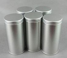 Wholesale empty tin, round metal tin can, tall round can