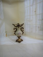 good quality home decoration resin vase with pearl and cheap price