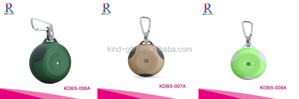 Round Shape Portable Bluetooth Speaker WaterProof Green Color Mobile Bluetooth Speaker