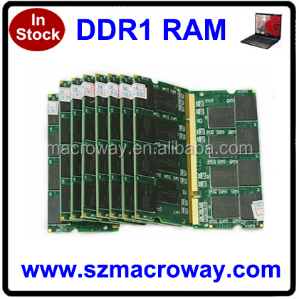 Memory module DDR1 333MHZ 200pin for laptop 256MB 512MB PC2700 SODIMM 1gb