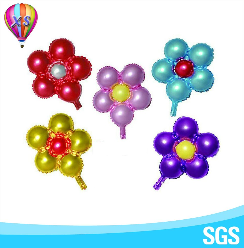 2016five-petaled flower foil balloon for party and wedding decoration and kids'toy