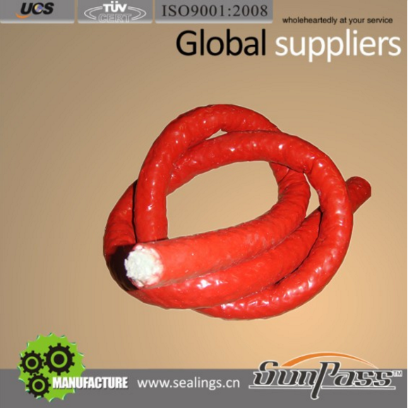 Fire Pump Packing Glands Siliconized Fiberglass Rope Fiberglass Fiber Packing