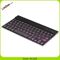For Samsung Tab/iPad/ windows Slim 4mm Aluminum Wireless led Backlit Bluetooth Keyboards Seven Colors
