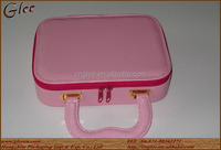 pink color jewelry leather handbag for promotional