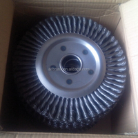 300mm double row twisted wire wheel brush for Weld Cleaning