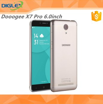 Original Doogee X7 Pro 6.0inch Big Screen Android 6.0 MTK6737 Quad Core 8.0MP 2GB/16GB 4G Mobile Phone Gold Black Silver