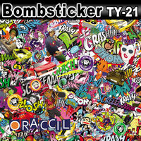 Car Body Sticker Bomb Vinyl Graphic Material