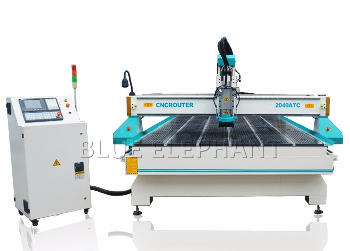 2000*4000mm atc cnc tool changer , cnc wood carving engraving machine 3d , automatic furniture making machine