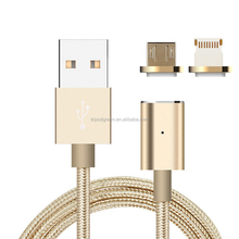 Magnetic USB Cable Nylon Braided Fast Charging Cable For smartphone