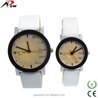 High fashion genuine leather couple watch vogue watch on sale