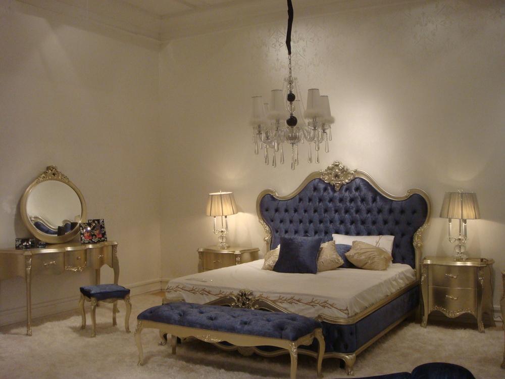 Danxueya Wholesale Reproduction Antique Bedroom Furniture Rococo Queen Bed