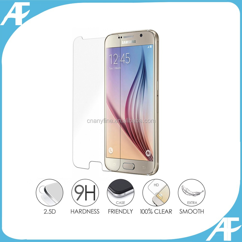 Mobile phone use full size cover tempered glass screen protector for S7 edge, full covered tempered glass for s7 edge