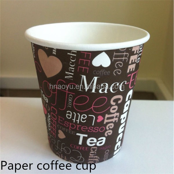 9oz printed paper cups for beverage hot & cold drink