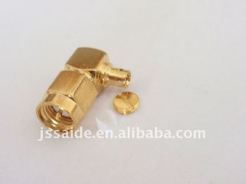 SMA male right angle for RG405 cable