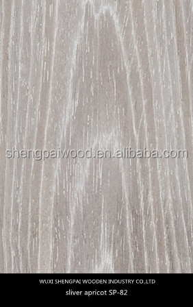 engineered apricot wood face veneer sheets/outdoor veneer decking for doors floors desks hotels skins n shengpai china