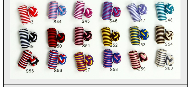 Fashion handmade silk knot cufflinks elastic square cufflinks