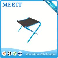 Outdoor Metal Camping Stools Pocket Chair Fold Up Portable Seat Steel Beach Fishing Hiking Chair for promotion