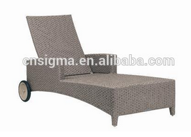 2017 TRADE ASSURANCE Fancy design cheap aluminium pe rattan wicker garden sun loungers