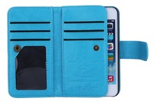 BRG Magnetic 2 in 1 Wallet Leather With 6 Card Holders+Cash Slot+Photo Frame Phone Case for iPhone 5