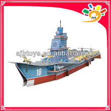 DIY Educational Paper Puzzle 3D Jigsaw puzzle Model-Liaoning aircraft carrier Puzzle Toy
