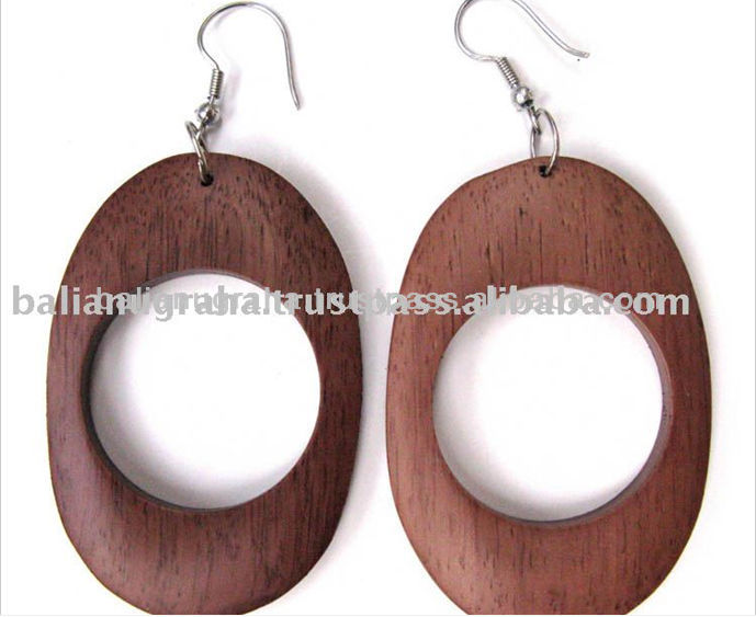 High Quality Women Costume Fashion Handmade Wood Earring