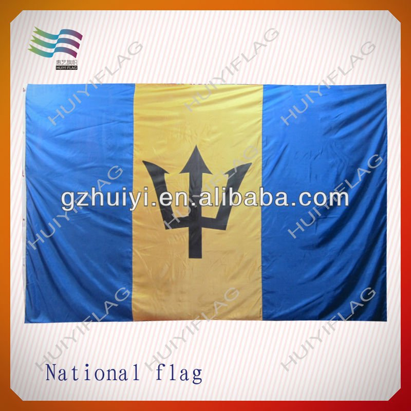 Digital Printing Polyester Barbados Country Flag