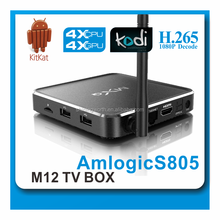 Android 4.4 Quad Core XBMC KODI H.265 Android HD 1080p Smart Iptv Tv Box MXQ with Aluminum Casing
