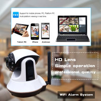 High definition camera alarm sysfem WIFI camera alarm system wireless digital home security alarm system