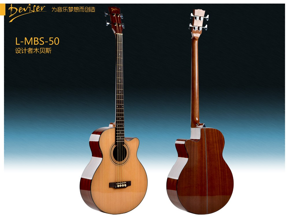 wholesale musical instruments High quality 4 strings wooden bass guitar