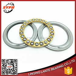 Copper cage flat miniature size thrust ball bearings F4-10 M 4*10*4.5 mm