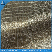 FAMOUS BEST PU FAUX CROCODILE LEATHER