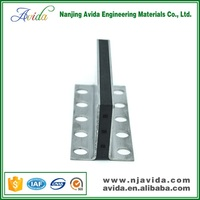 two-side L shape metal expansion joint for tile floor