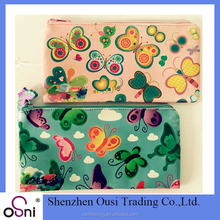 Osni beautiful pen holder/ butterfly soft PU pencil bags