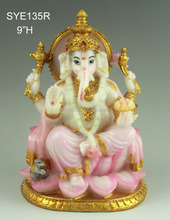 Wholesale Polyresin Indian God beautiful ganesh murti