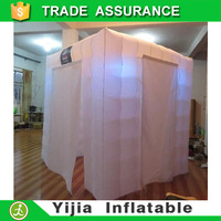 remote control LED lights portable Yijia inflatable photo booth manufacturer
