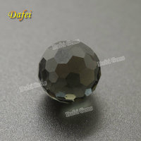 Top Quality 14mm Light Black Football Facted Synthetic Glass Beads