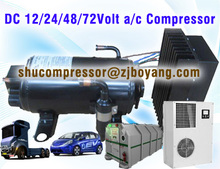 24v & 12v car air conditioner for truck cabin tractor and construction machineries air conditoner with electric compressor