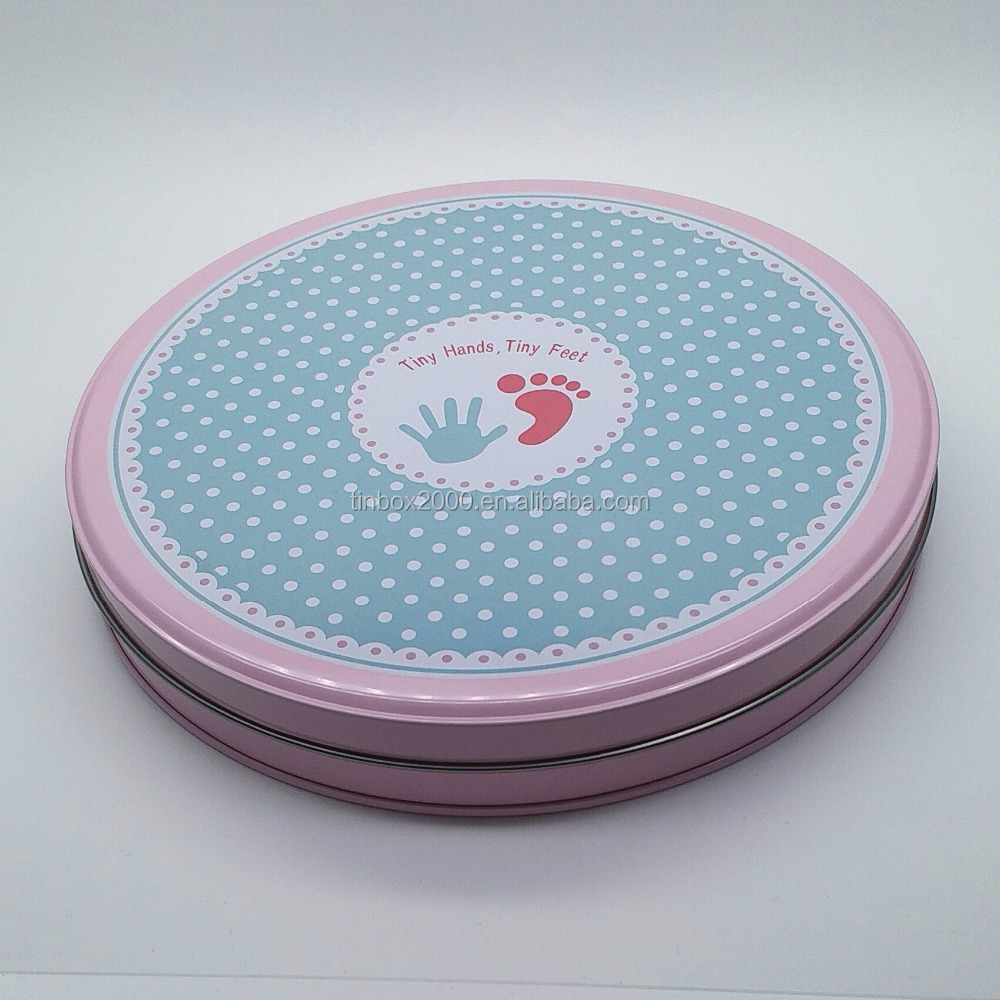 CUSTOM ROUND METAL TIN BOX FOR COOKIES CHOCOLATE BISCUITS