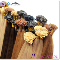 Wholesale Russian Double Drawn 1.0g/Strand Silky Straight Nail Hair Extension U Tipped Hair