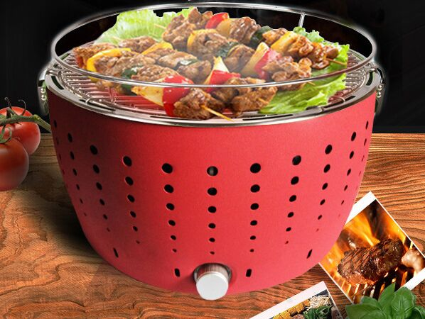 Kebab Yakiniku Smoke-free Lotus BBQ Grill Portable Lotus Barbecue Grills For Party &Meeting Many Colors Available