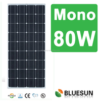 Bluesun Ali trade assurance gold PV solar panel supplier mono high quality 80w solar modules