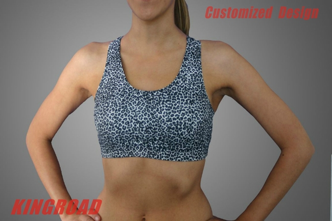 Custom printed suit lycra bra Sports Bra,compression running bra,yoga fitness bra