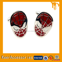 spider-man cuffliniks wholesale fashion jewelry